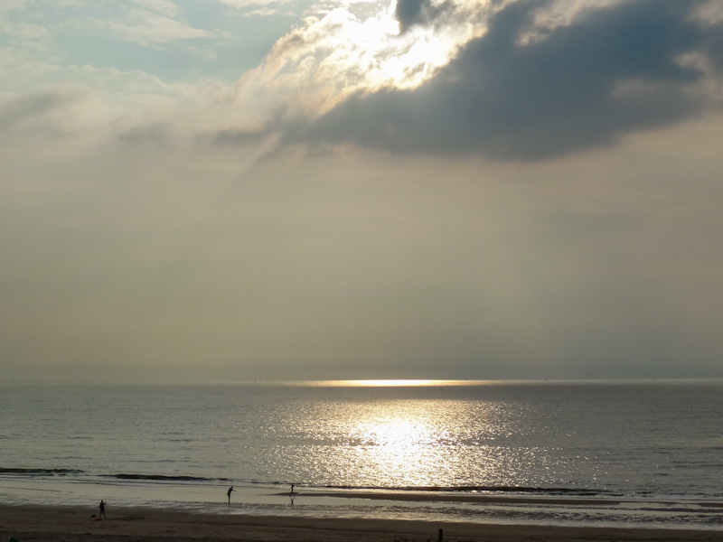 De zee bij Zandvoort.